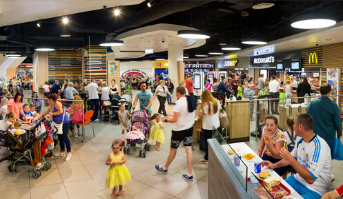 St Johns Shopping Centre Liverpool Food Court