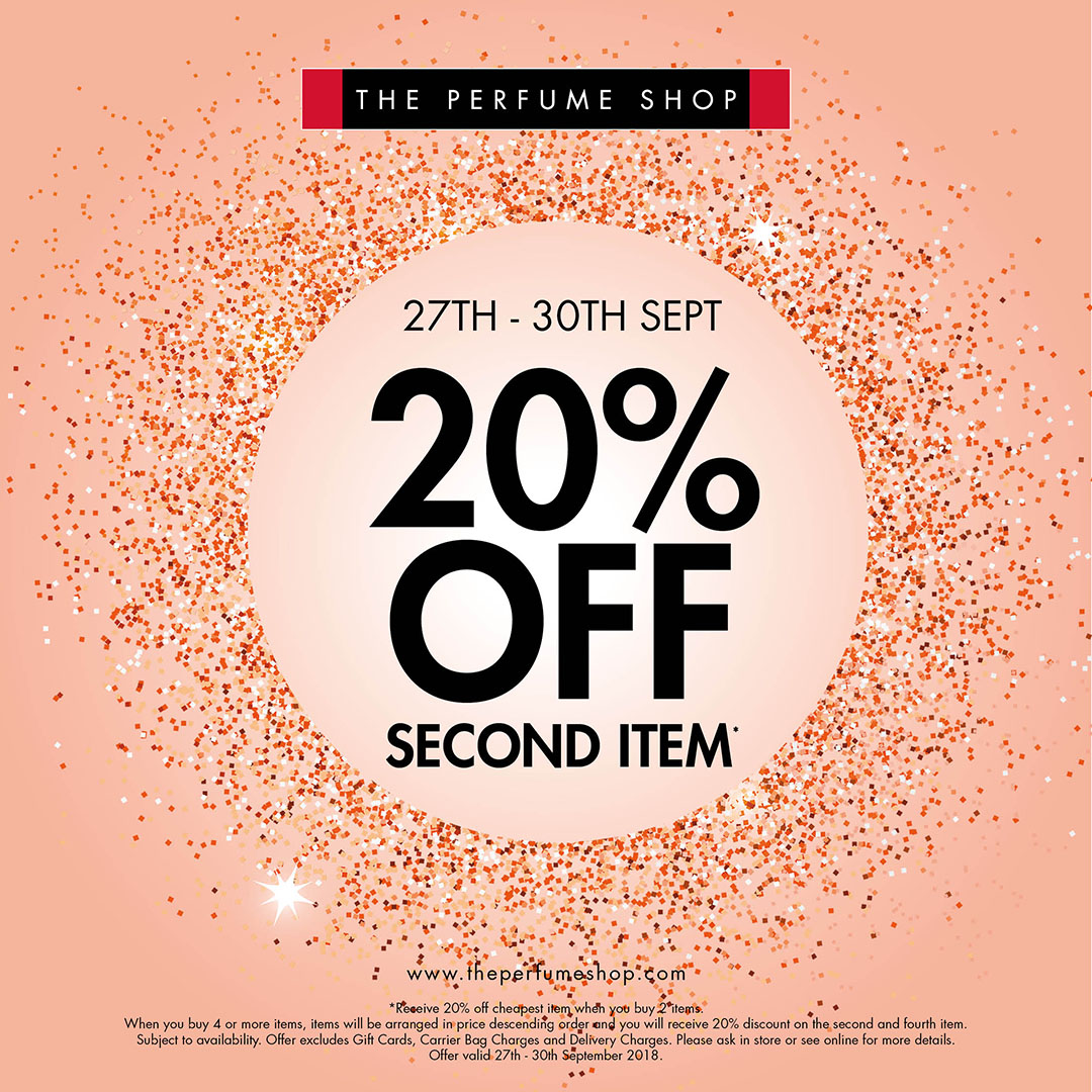 cde95f1beab00a 20% off Second Item at The Perfume Shop - St Johns Shopping Centre